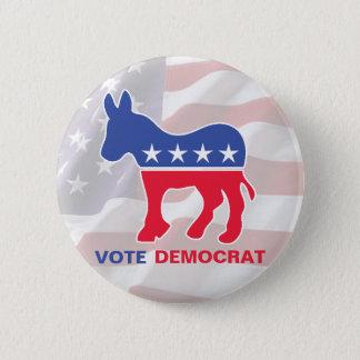 Vote Democrat With Donkey Pinback Button
