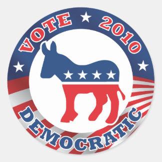 Vote Democratic 2010 Sticker