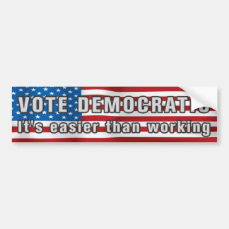 Vote Democratic Anti Obama Bumpersticker Bumper Sticker