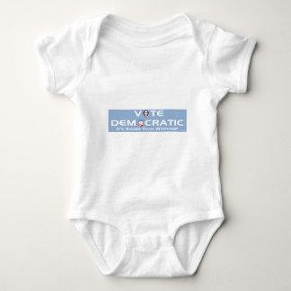 Vote Democratic Baby Bodysuit