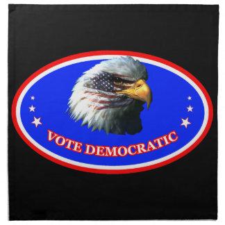VOTE DEMOCRATIC CLOTH NAPKIN
