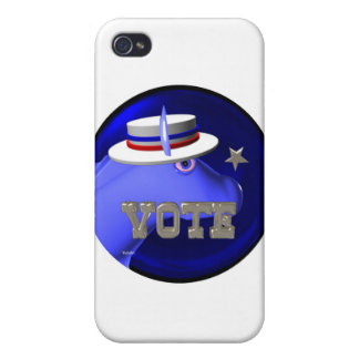 Vote Democratic  donkey Cover For iPhone 4