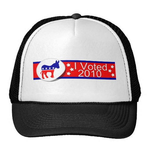 ¡Voté Democratic en 2010! Gorros Bordados