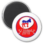 ¡Voté Democratic en 2010! Imán De Frigorífico