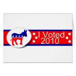 ¡Voté Democratic en 2010! Tarjeton