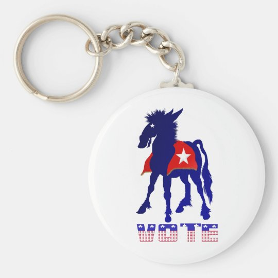 Vote Democratic Keychain