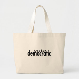 VOTE DEMOCRATIC LARGE TOTE BAG
