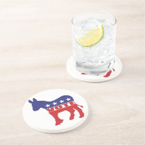 Vote Democratic Party Coaster