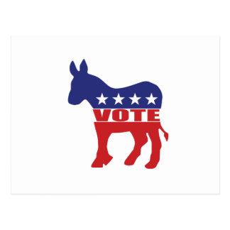 Vote Democratic Party Postcard