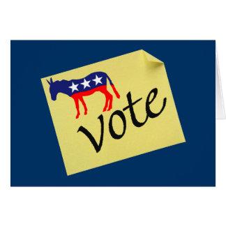 Vote Democrats Card