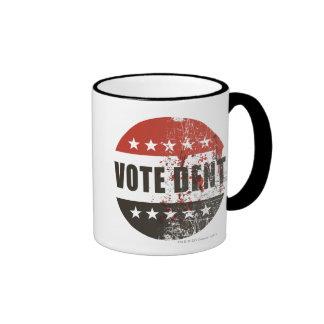 Vote Dent sticker Ringer Mug