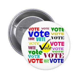 VOTE DESIGN PINS