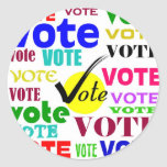 VOTE DESIGN CLASSIC ROUND STICKER