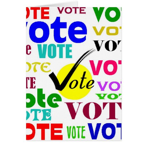 VOTE DESIGN GREETING CARD