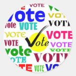 VOTE DESIGN STICKER