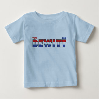 Vote DeWitt 2010 Elections Red White and Blue Baby T-Shirt
