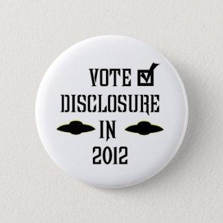 Vote Disclosure in 2012 Button