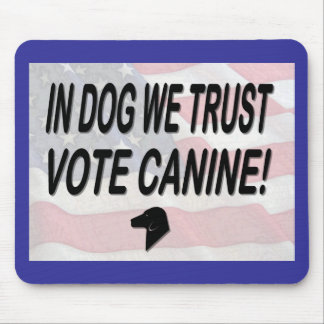 Vote Dog with American Flag Mousepad