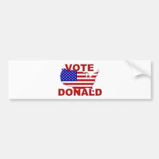 Vote Donald Car Bumper Sticker