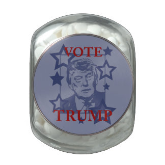 Vote Donald Trump 2016 Glass Candy Jars