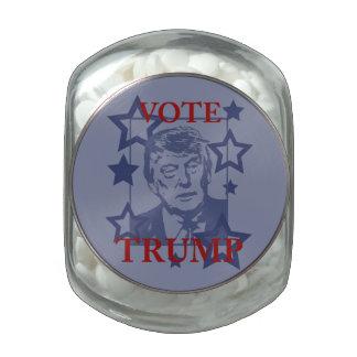 Vote Donald Trump 2016 Glass Candy Jars