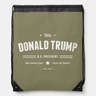 Vote Donald Trump Drawstring Backpack