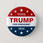 "Vote Donald Trump for President 2016 Campaign Button<br><div class=""desc"">Vote Donald Trump for United States presidential election,  2016 - personalized design template. (#Zlection) You can click the &quot;Customize it&quot; button to adjust text style,  colors,  sizes and more. ↓↓↓ See more Support Trump Stuff in our Collections Below ↓↓↓</div>"