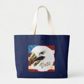 Vote Eagle Large Tote Bag