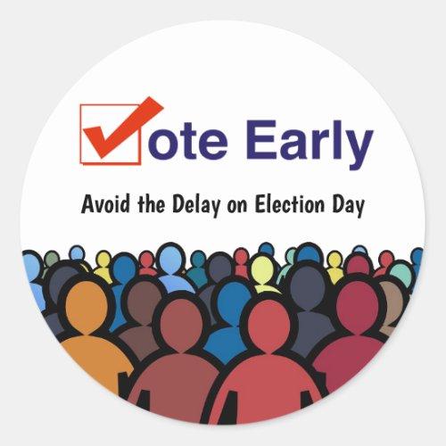 Vote Early Classic Round Sticker