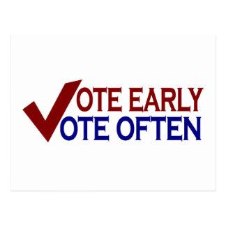 Vote Early Vote Often Postcard