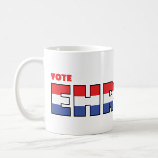 Vote Ehrlich 2010 Elections Red White and Blue Coffee Mug
