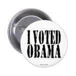 Voté el botón de OBAMA Pins