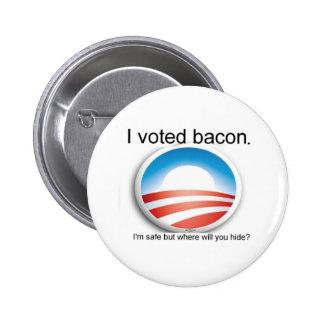 Voté el botón del tocino pin