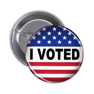 Voté - el botón pin redondo de 2 pulgadas
