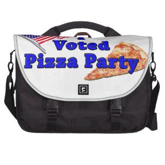 Voté el fiesta de la pizza bolsas para portátil