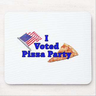Voté el fiesta de la pizza tapete de raton