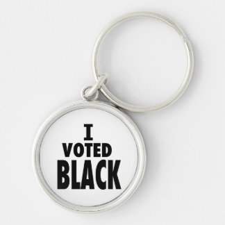 Voté el negro, regalos de los triunfos de Obama Llaveros Personalizados