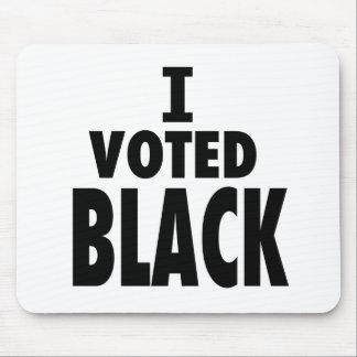 Voté el negro regalos de los triunfos de Obama Tapete De Ratón