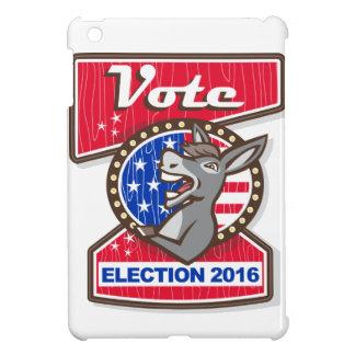 Vote Election 2016 Democrat Donkey Mascot Cartoon iPad Mini Cases