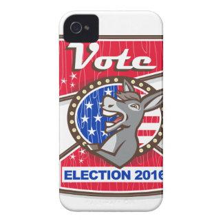 Vote Election 2016 Democrat Donkey Mascot Cartoon iPhone 4 Case-Mate Case