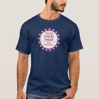 Vote Election Men T-Shirt Political Campaign