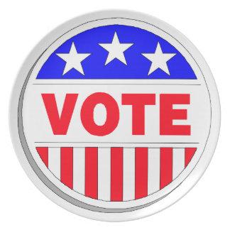 Vote Election Political Plate