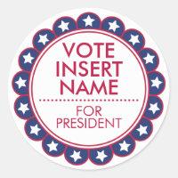 Vote Election Sticker Seals Political Campaign
