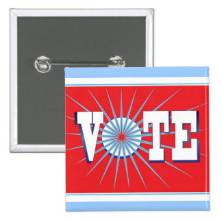VOTE Elections Button - square / red