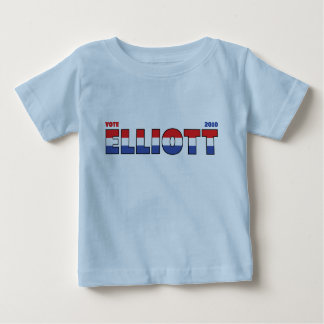 Vote Elliott 2010 Elections Red White and Blue Tee Shirt