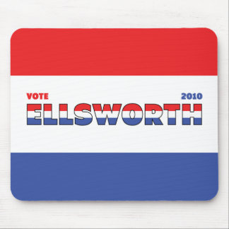 Vote Ellsworth 2010 Elections Red White and Blue Mouse Pad