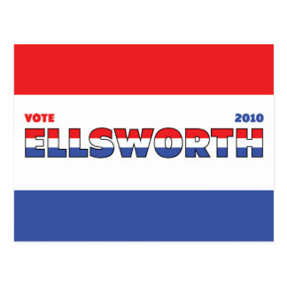 Vote Ellsworth 2010 Elections Red White and Blue Postcard