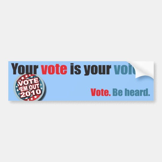 VOTE-EM-OUT BUMPER STICKER