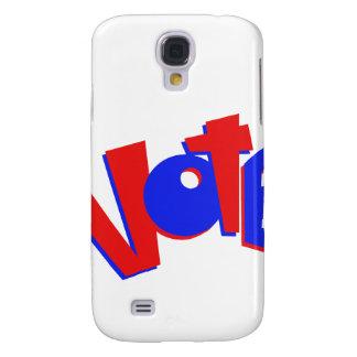 VOTE en swag animoso de la elección del texto rojo Funda Samsung S4