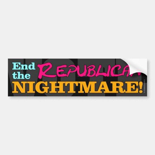 VOTE! End The Republican Nightmare Car Bumper Sticker